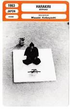 FICHE CINEMA : HARAKIRI - Masaki Kobayashi 1963 Seppuku