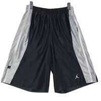 Nike Jordan Jumpman Shorts Men's Size Medium Black Gray Silky