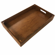 Large Wooden Serving Tray with Handles - Acacia Wood Breakfast Tray Canope Tray