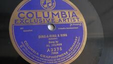 Al Jolson - 78rpm single 10-inch – Columbia #A3375 Ding-A-Ring A Ring