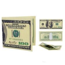 $100 DOLLAR BILL NOVELTY WALLET Printed Canvas Billfold One Hundred Money Slim
