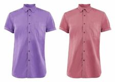 Topman Cotton Patternless Slim Casual Shirts & Tops for Men