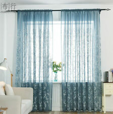 Embroidered Tulle Curtain Voile Sheer Drape Panel Scarf Window Romantic Valance