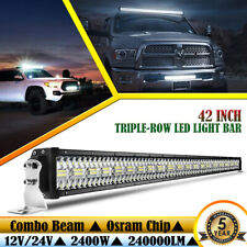 "42"" LED Light Bar 2400W Spot Flood Combo Beam Offroad Pickup 4WD Driving Lamp"