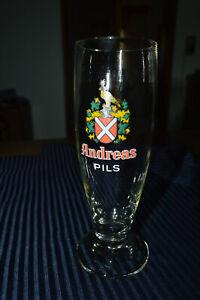 altes Bier Glas Tulpe 0,2l Andreas Pils *Sammler