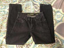 Gap Kids Jeans1969 Black 10 Slim Straight Distressed  Adjustable