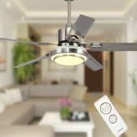 52'' Modern Ceiling Fan Light LED Dimmable Remote Control With Light Kit Lamp.