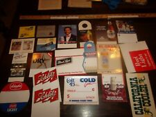 20 Beer Signs COASTERS Hangers  -  BLACK LABEL Lone Star COLT 45 Molson COORS