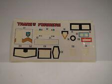 Vintage G1 Transformers PROWL STICKER SHEET decal sheet 100% ORIGINAL