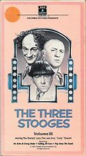 The Three Stooges Volume III - 3 Episodes -1983 Columbia Picture Video VHS Tape