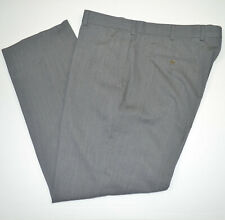 BROOKS BROTHERS Madison 100% Wool Flat Front Mid Gray Dress Pants Sz 36 x 29