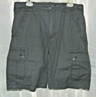 Wear First Mens Black Stretch Cargo Shorts Size 34