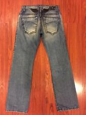 NEW Authentic Robin's Jeans Mens 31 HV STCH BT LG Black Heavy Stitching