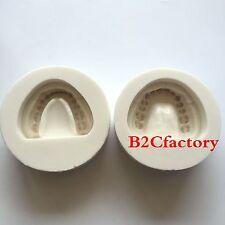 2pcs Dental Plaster Model Mold Mould of Edentulous Jaw Complete Cavity Block