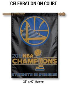 2017 NBA Champions Golden State Warriors 28x40 House Banner