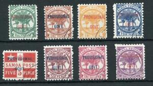 Samoa 1899-1900 Provisional SG90/7 FU set cat £150
