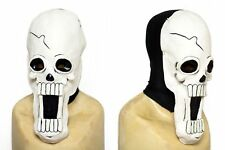 Skeleton Skull One Piece Cosplay Latex Brook Mask w/ black spandex hood