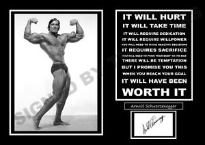 ARNOLD SCHWARZENEGGER IT WILL HURT SIGNED / AUTOGRAPHED PRINT