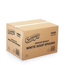 Settings Cutlery Spoons 1000 Count Disposable Plastic White