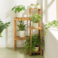 Corner Wooden Flower Plant Stands Home Bathroom Stand Rack Shelf Outdoor Patio