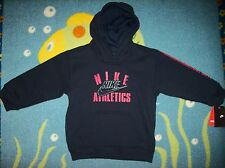 Nike Hoodie Boys Pull Over Sz 4Toddler Running Athletics Sweatshirt Navy  NWT