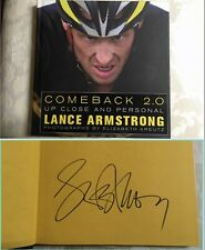 Lance Armstrong signed COMEBACK 2.0 book - LARGE BOLD autograph with PROOF PIC