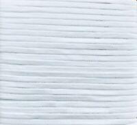 Gummiband / Gummilitze WEISS (5 mm / 10 Meter - elastisch) SOFT TOUCH + KOCHBAR