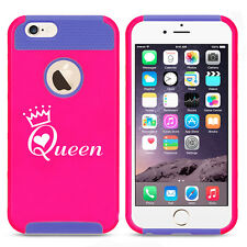 For iPhone X SE 5 6 6s 7 8 Plus Shockproof Impact Hard Case Cover Queen w/ Crown