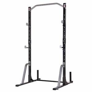 Body Champ PBC530 U Frame/ Cage Power Rack System & Olympic Weight Plate Storage