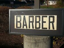 BARBER SIGN,HAND PAINTED,HAND CARVED CIRCA 1935