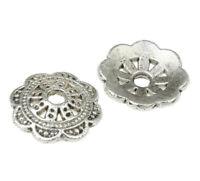 40 Metallperlen Spacer 10mm Tibet silber Zwischenteile Perlenkappen BEST M235