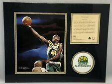 1995 Shawn Kemp Seattle Supersonics Matted Kelly Russell Lithograph Print #269