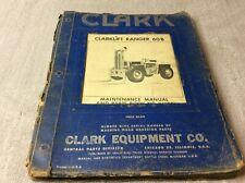 Clark Equipment Clarklift Ranger 60b Maintenance Amp Parts Manual Book