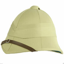 Pith Helmet British Army Military Historical, Steampunk Reenactment Tropical Tan