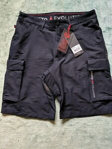 Men's Navy Musto Evolution Deck UV Fast Dry Sailing Shorts Size 30 waist £80 RRP