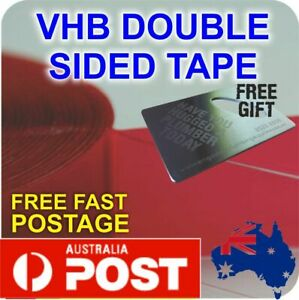 VHB DOUBLE SIDED TAPE Clear Heavy Duty Signage Building 1mm x 12mm x 33m