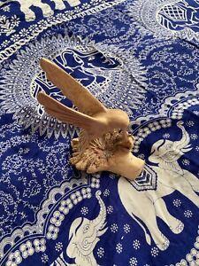 Beautiful Drift Wood Hummingbird Sculpture , Ornament , Hand Carved Fairtrade