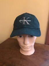 Calvin Klein Dark Green Logo Spell Out Snapback Baseball Hat Cap