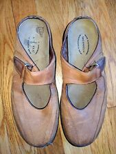 Merrell air cushion topo clutch deer tan Mary Jane leather slip on shoes size7.5