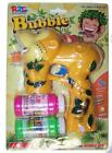 LIGHT UP YELLOW FOREST MONKEY BUBBLE GUN WITH SOUND endless toy Maker machine