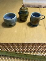Vintage Wade Irish Collectable Salt/Mini Mug/mini Bowl 3Piece Set