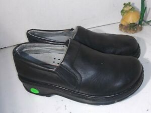 klogs Clogs Black Leather Working Shoes Womens Size 9 M