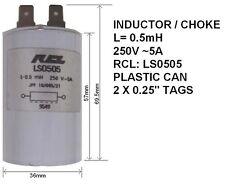 INDUTTORE / UGELLO 0,5 mH, 250V, 5A, RCL: ls0505 (Pacco da 2)