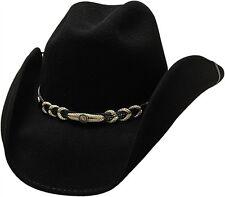 efeb5292427b02 Western Cowboy Hat Montana Black 100% Wool Felt by Bullhide Montecarlo  Stetsons