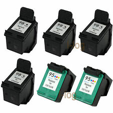 6x Refilled Ink Cartridges for 2x HP 95 C8766WN Black + 4x HP 98 C9364WN Color