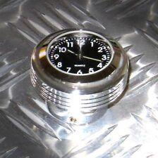 """New British Made """"Grooved"""" Billet Harley Springer® Stem Nut Clock"""