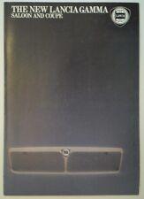 LANCIA GAMMA COUPE & SALOON orig 1981 1982 UK Mkt Sales Brochure
