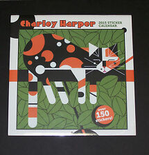 Charles/Charley Harper New 2015 Large Sticker Wall Calendar