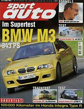 sport auto 12/00 2000 Alfa GTV BMW M3 Corvette Z06 Gemballa GTR 600 SKN Audi RS4