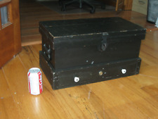Nice Antique Machinest Wooden Tool Box,21 x 11 x 11, Vintage Tools,Owners Marks